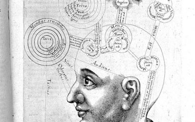 L0028467 Robert Fludd, Tomus secundus ..., 1619-1621 Credit: Wellcome Library, London. Wellcome Images images@wellcome.ac.uk http://wellcomeimages.org Head and shoulders of a man in profile with a mass of interconnected orbs and stars within and above his head. Tomus secundus ... de supernaturali, naturali praeternaturali et contranaturali microcosmi historia ... Robert Fludd Published: 1619 - 1621  Copyrighted work available under Creative Commons Attribution only licence CC BY 4.0 http://creativecommons.org/licenses/by/4.0/